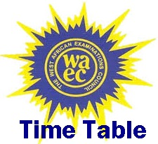 2016 Waec Time Table