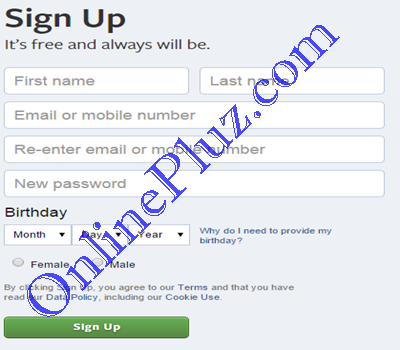 Create New Facebook Account Facebook Sign Up Www