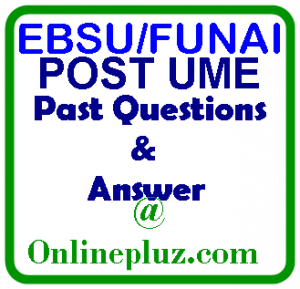 EBSU/FUNAI POST UME REGISTRATION FORM