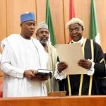 PHOTOS Of Newly Elected Senate President Sen. Dr. Bukola Saraki