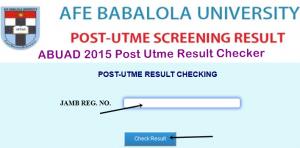 ABUAD 2015 Post Utme Result Checker