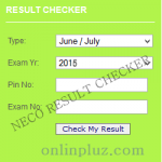 NECO 2015 June/July Result Checker – www.mynecoexam.com