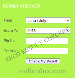 NECO 2015 June/July Result