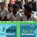 Air Force Military Secondary Schools 2016 Admission Form