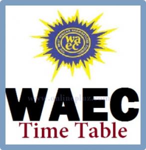 2016 WAEC Timetable