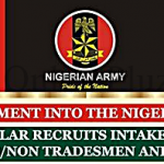 Nigerian Army 2016 Recruitment Form – Apply Here