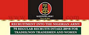 Nigerian Army 2016 Recruitment Form