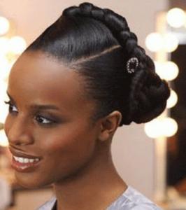 Latest Nigerian Women Black Braided Hairstyles