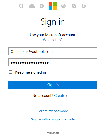 Outlook.com Sign In