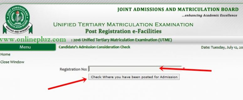 JAMB Portal To Check Admission Status