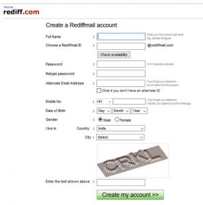 www.rediffmail.com - Create Rediffmail Account, Login Rediffmail