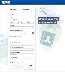 www.gmx.com | Sign up GMX Mail Account| GMX Registration