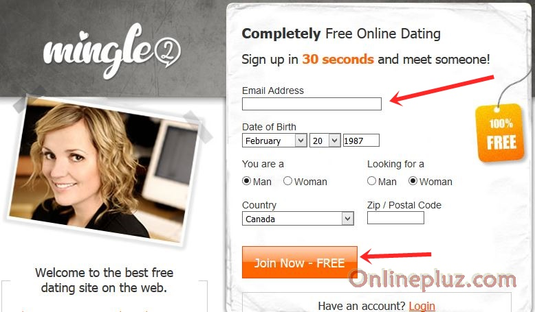 Online dating sign up