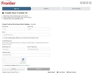Sign Up Frontier Mail Account