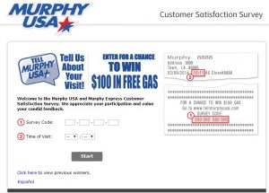Murphy USA Customer Satisfaction Survey