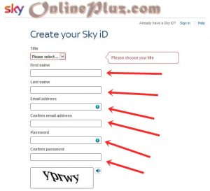 create a sky account