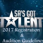 SA's Got Talent 2017 Registration & Audition Guidelines
