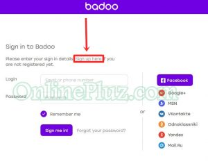 Badoo dating sign up