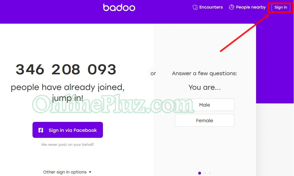 Badoo sign out