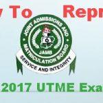 How To Reprint JAMB 2017 UTME Exam Slip – www.jamb.org.ng