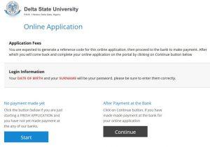 DELSU Admission Screening 2017 Registration Form