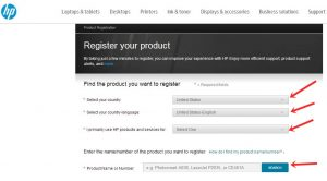 Hp Product Registration