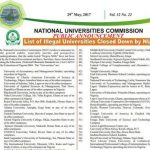 NUC Official List Of Illegal Nigeria Universities Which Are Shot Down