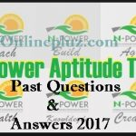 Download nPower.gov.ng Test Past Questions and Answers 2017