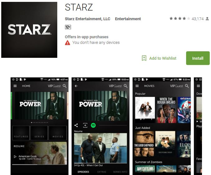 Download STARZ Play App