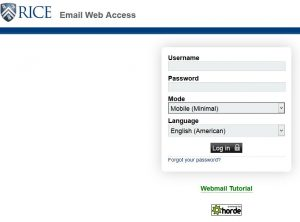 Login Rice Webmail