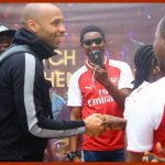 Former Arsenal star Thierry Henry arrives in Nigeria