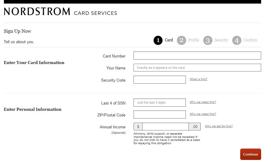 Nordstrom Card Account