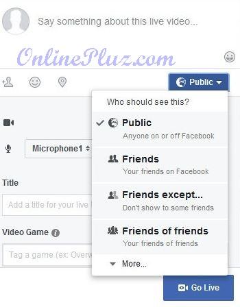 Start Facebook Live Streaming