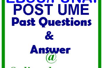 EBSU/FUNAI POST UME REGISTRATION FORM