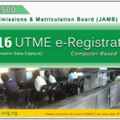 2016 UTME Registration Form