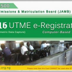 2016 UTME Registration Form