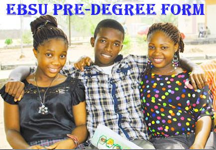 EBSU PRE-DEGREE FORM