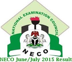 2015 NECO June/July Result