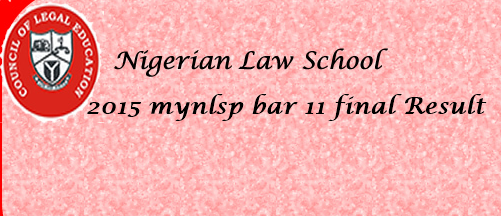 2015 mynlsp bar 11 Result