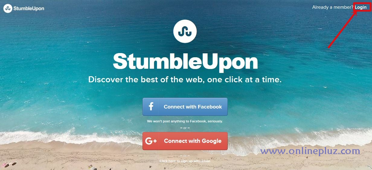 StumbleUpon Login Account