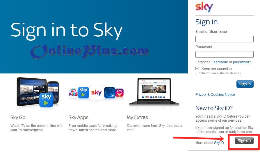 Create Sky ID Account, Sign Up Sky Uk Account