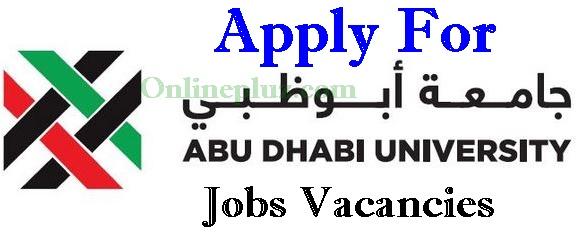 Abu Dhabi University Jobs Vacancies