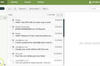 One Webmail login