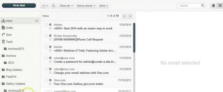 web mail archives