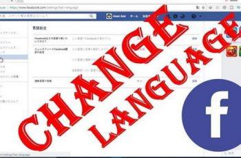 Change Facebook Language