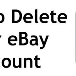delete your ebay account