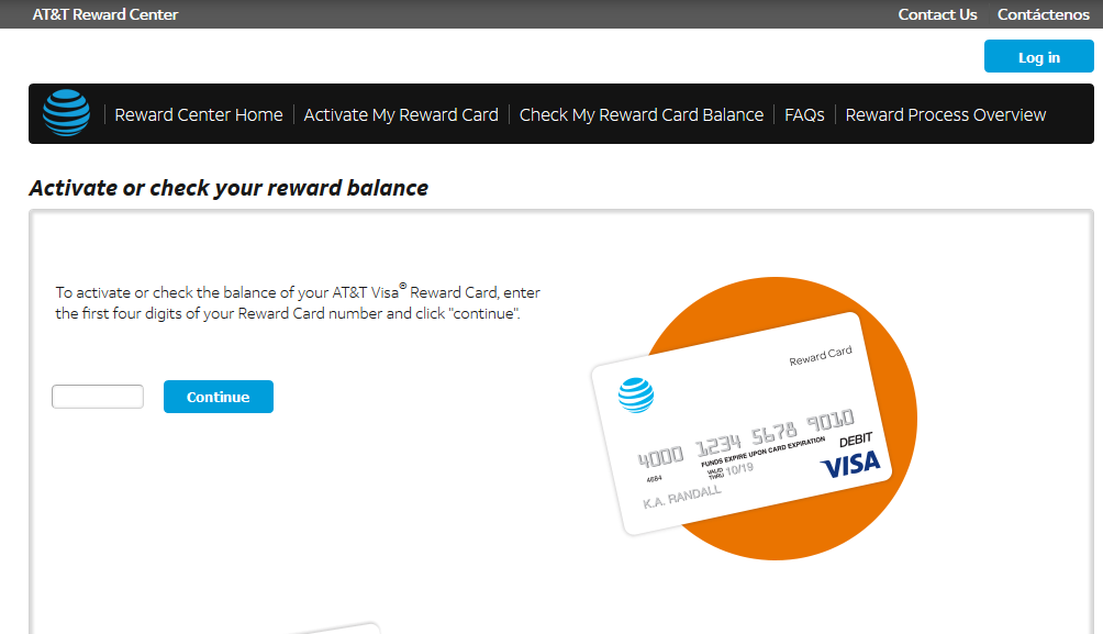 Activate AT&T Reward Card