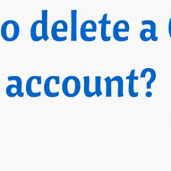 Delete your Gmail Account