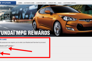 Activate Hyundai MPG Rewards Card
