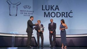 Modric Wins UEFA Player of the Year Award